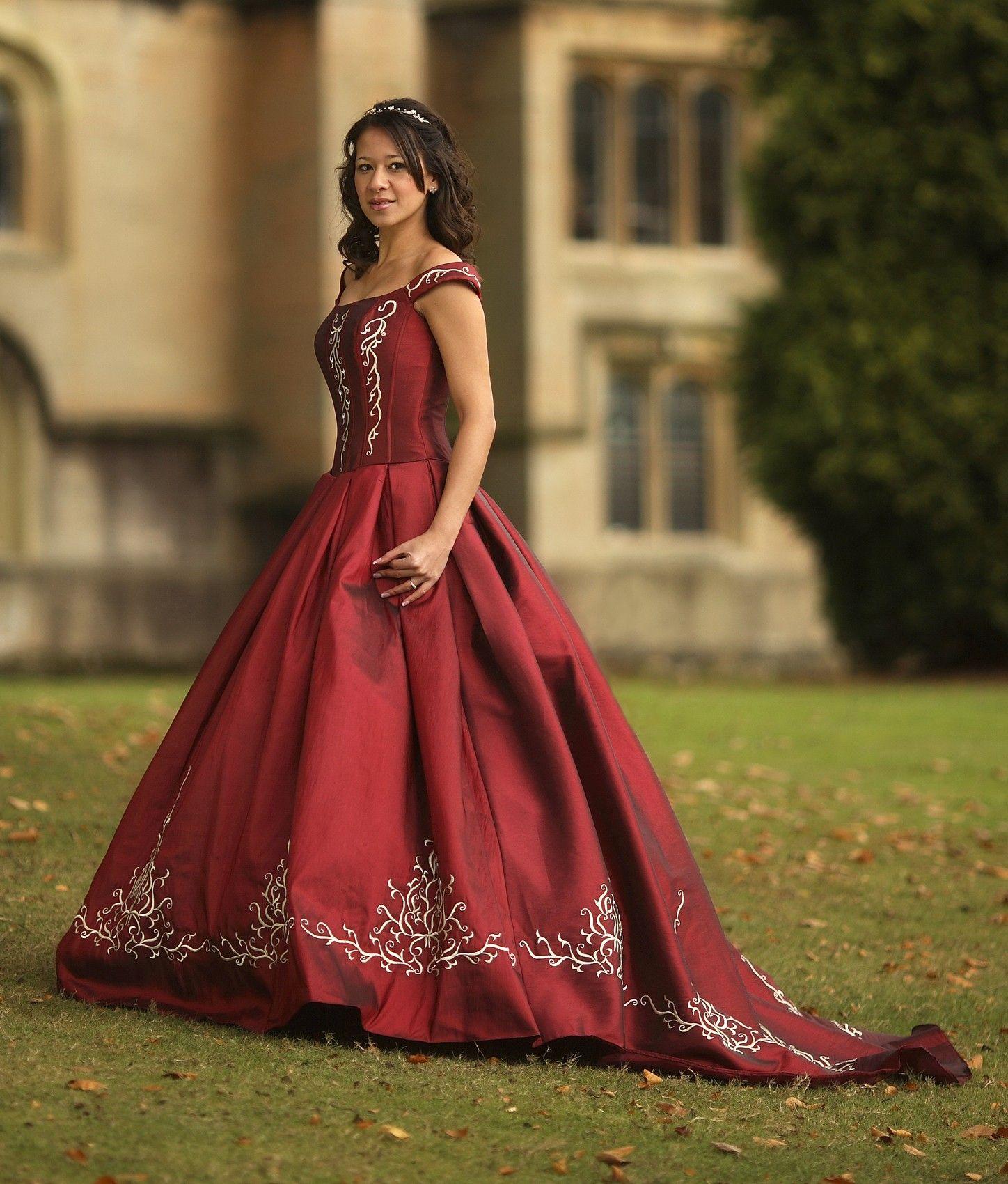 Coloured Wedding Dresses Uk