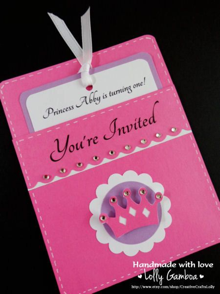 Princess crown pocket invitations set of 12 by creativecraftslolly princess crown pocket invitations set of 12 by creativecraftslolly 3600 stopboris Image collections