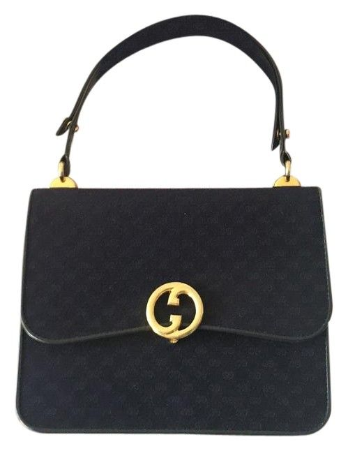 272862d873b Gucci Top Handle Navy Blue Satchel. Save 72% on the Gucci Top Handle Navy  Blue Satchel! This satchel is a top 10 member favorite on Tradesy.