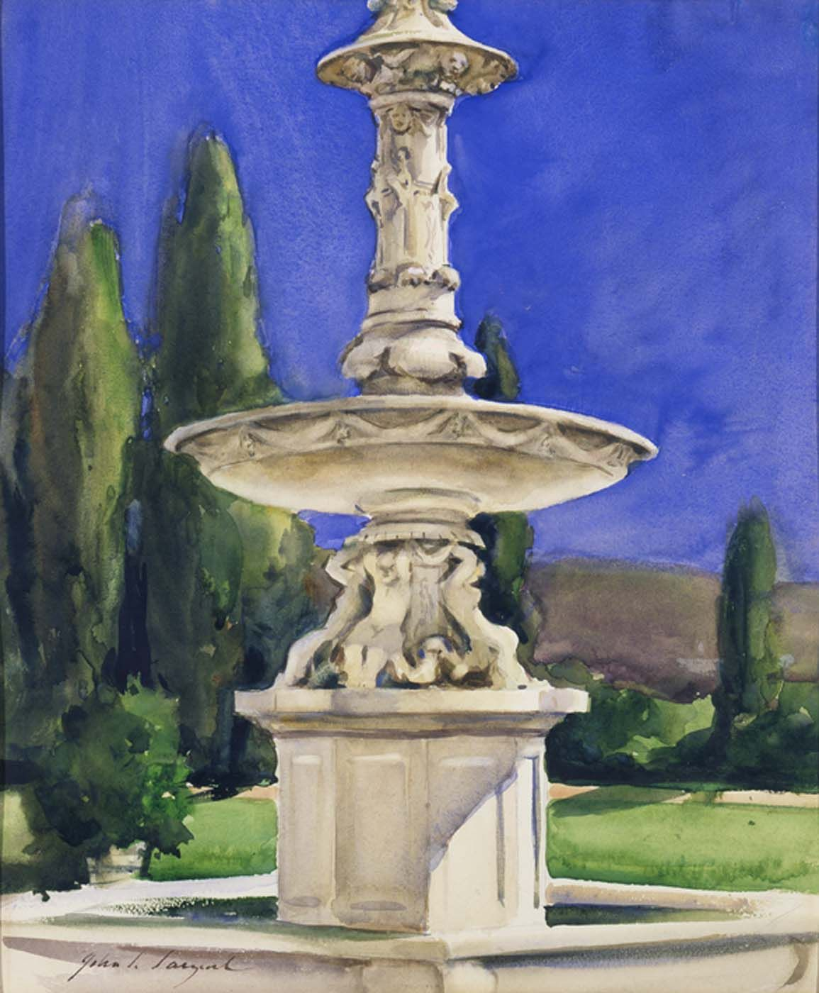 Marble Fountain in Italy John Singer Sargent (American