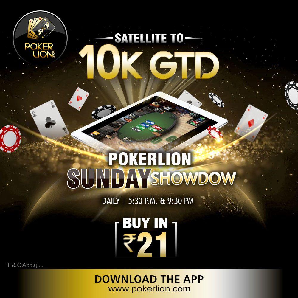 Satellite To 10K GTD PokerLion Sunday Showdown Poker