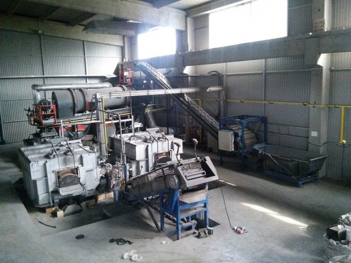Broeze Mobil Metal Melter Aluminium Recycling plant, used O1616