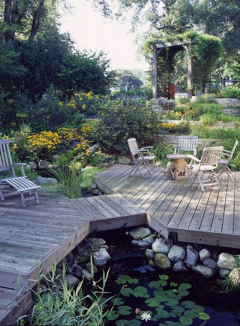Why Every Deck Needs a Pond -   13 backyard garden pond