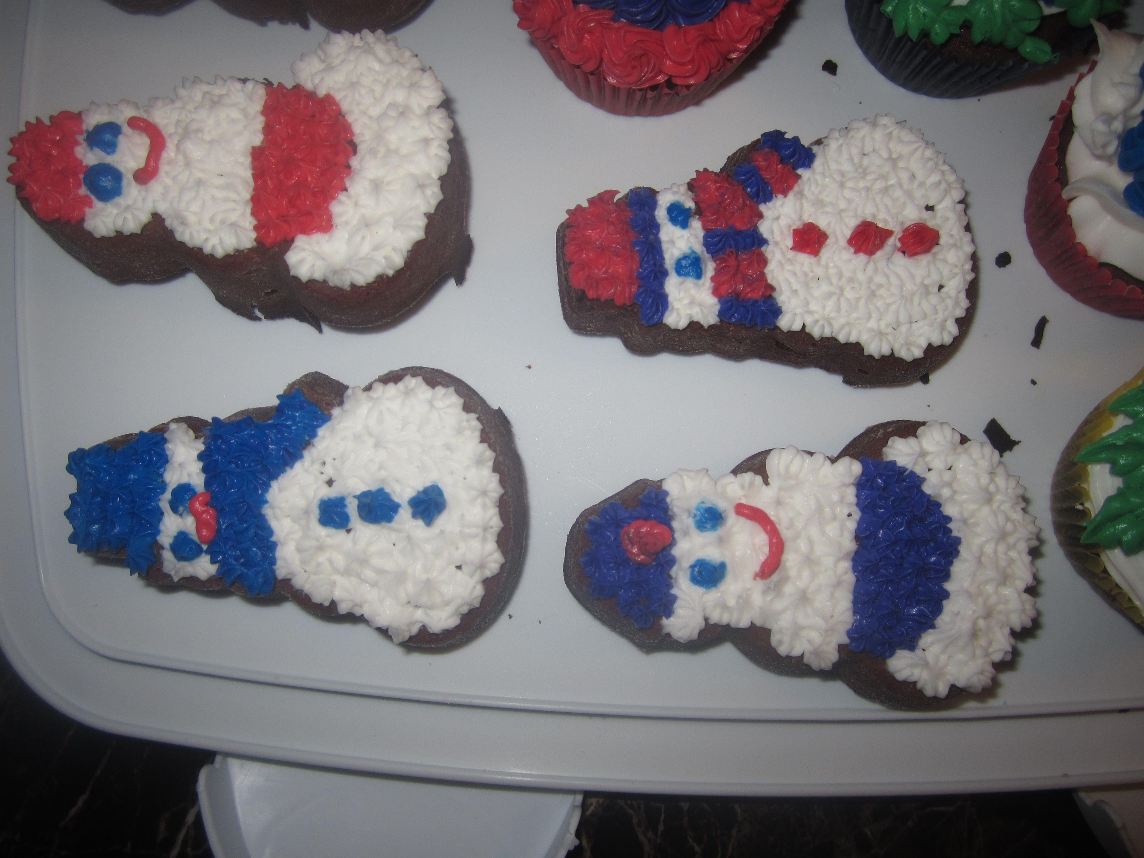 Snowman Minicakes