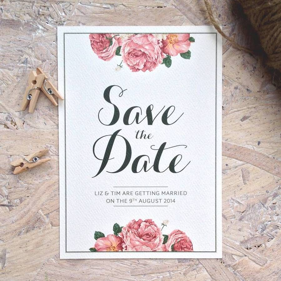 Vintage Rose Wedding Invitation By Pip Designs Stationery Notonthehighstreet
