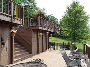 Multi Level Decking!  So much to offer at this Wixom Lake Waterfront Home!  1321 McKimmy, Beaverton, MI.