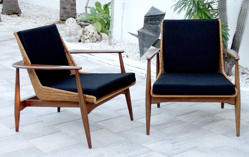 Lawrence Peabody Vintage Danish Modern Mid Century Lounge Chairs