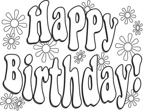Birthday Coloring Pages Birthday Colouring Page Printable Pages ...