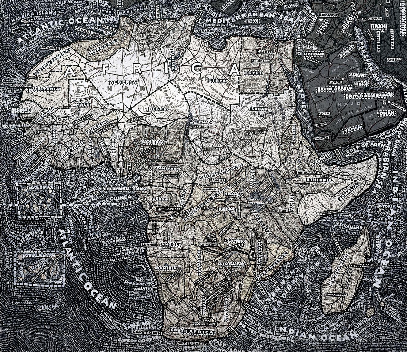 Paula Scher Map Paula Scher Cartography African Map