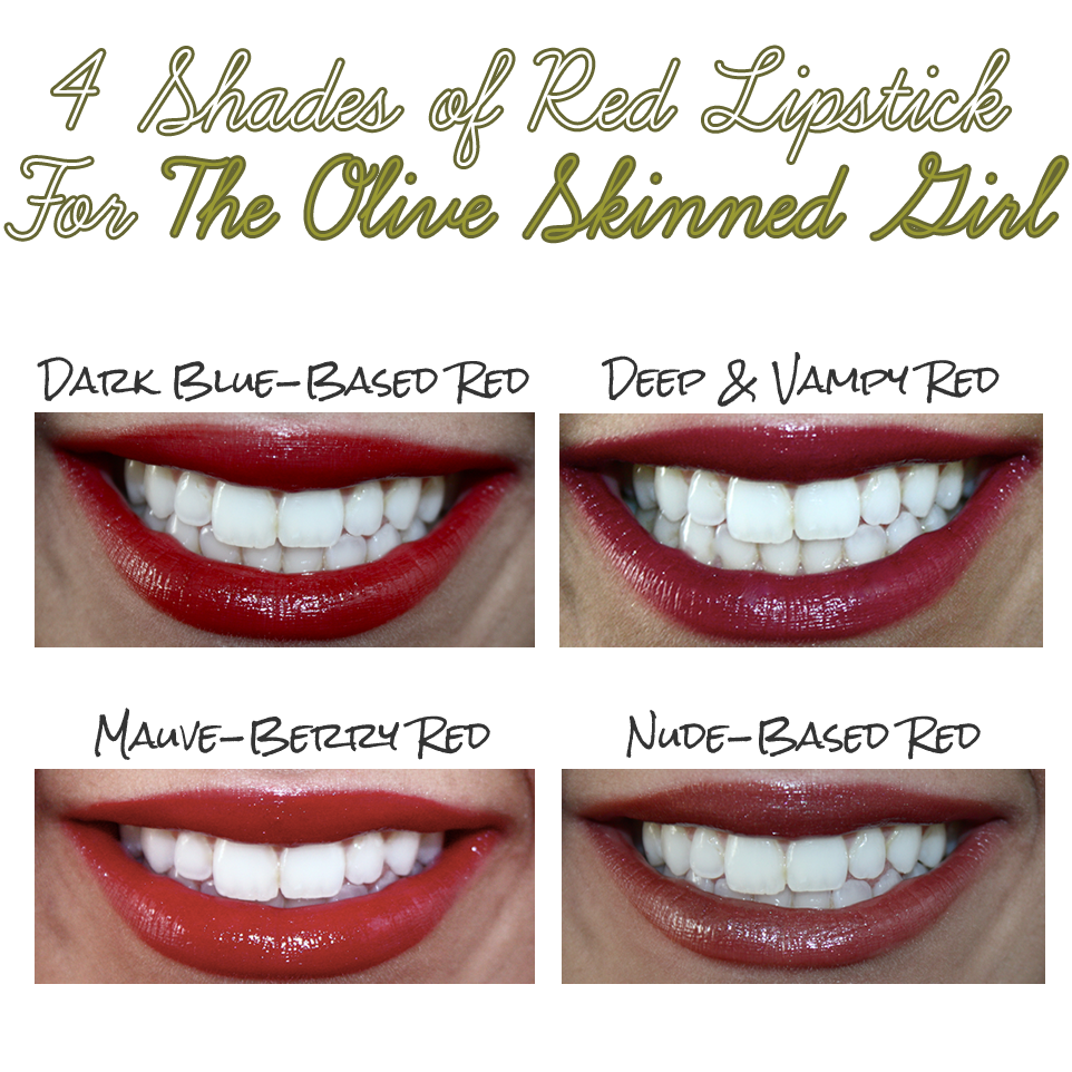 4 Shades of Red Lipstick For The Olive Skinned Girl - Kouturekiss ...