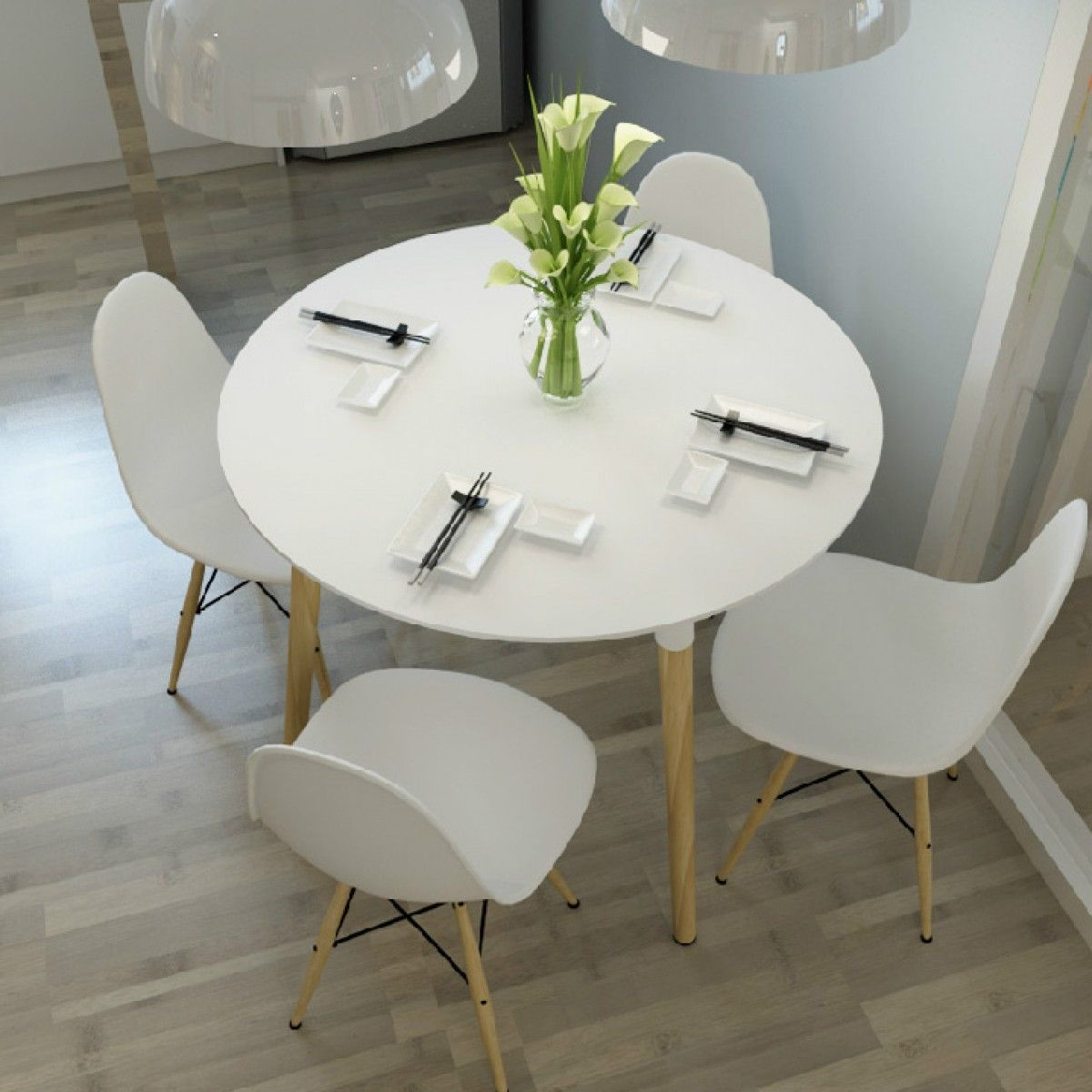 Eames Style DSW White Round Dining Table   Dining Table   Pinterest ...