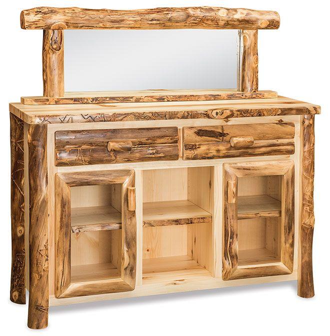 Dutchman Log Furniture Sideboard