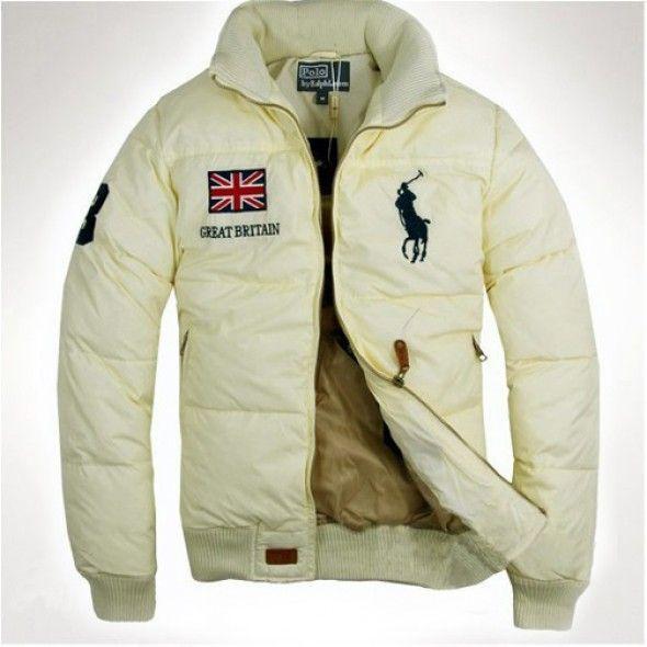 Polo Ralph Lauren Men Down Beige Great Britain Jackets http://www.ralph