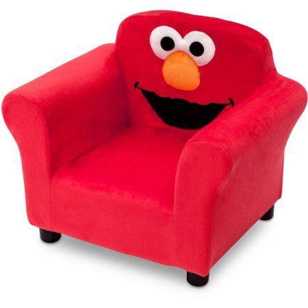 Sesame Street Elmo Kids Upholstered Chair By Delta Children