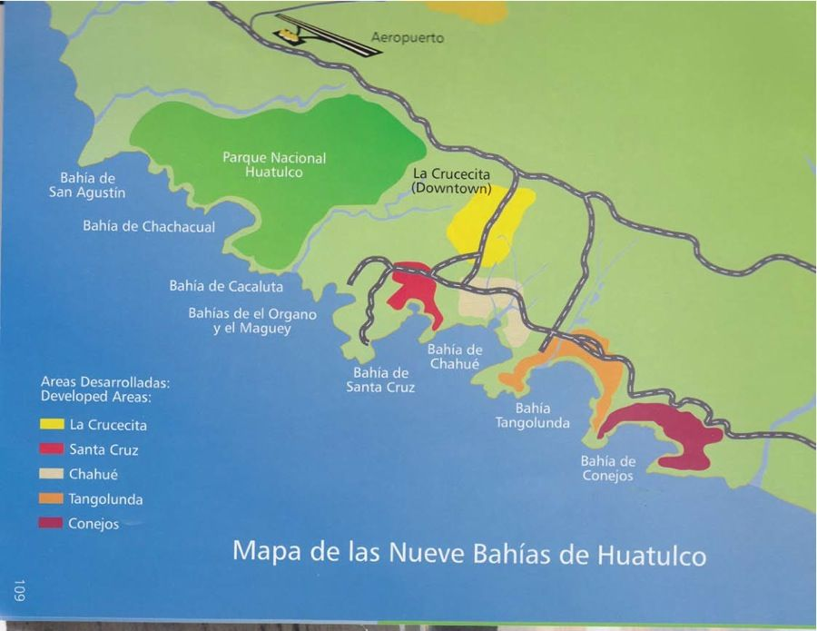 Map Of The Bays Of Huatulco Vacations Pinterest Huatulco