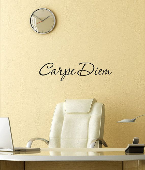 Carpe Diem vinyl wall art lettering Decal Latin word Seize the Day ...