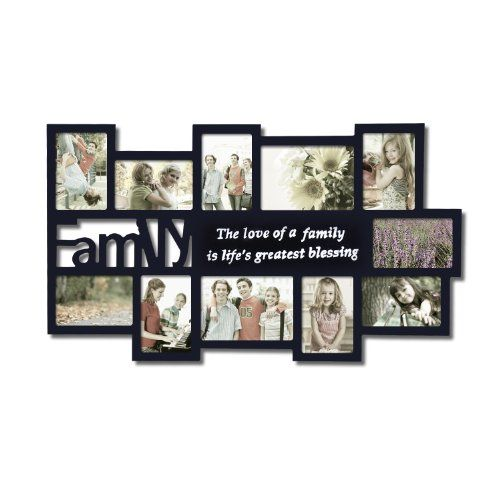 Adeco Decorative Black Wood Family Wall Hanging Collage Picture Photo Frame 11 Openings 4x6 With Images Family Wall Collage Photo Wall Collage Hanging Picture Frames