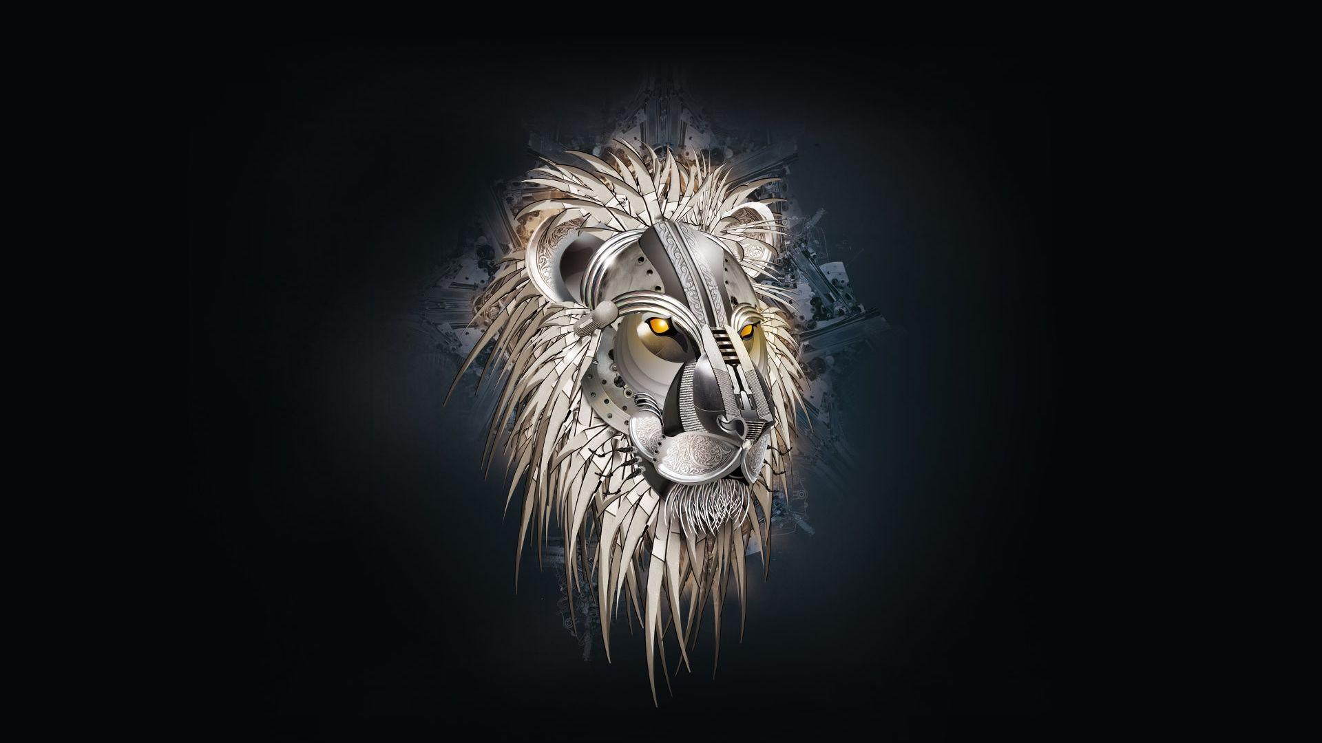 Mechanical King Lion Wallpaper Lion Hd Wallpaper Abstract Lion