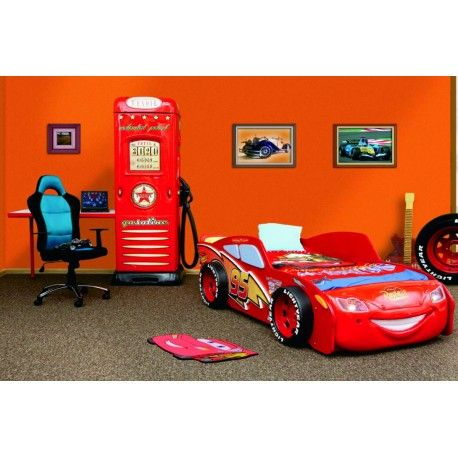 Lettino saetta mc queen in abs dal cartone animato cars kids room