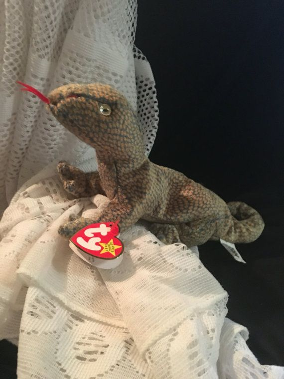 95fc34a6691 Scaly the Lizard   TY Beanie Baby   RARE Ty Baby by JewelzVintage ...