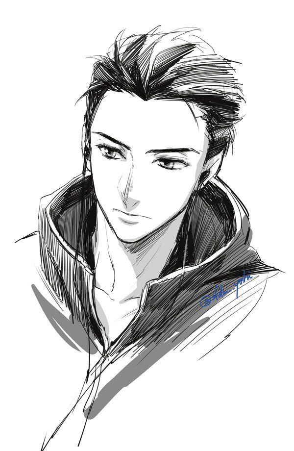 Výsledek obrázku pro yuuri katsuki BLACK AND WHITE