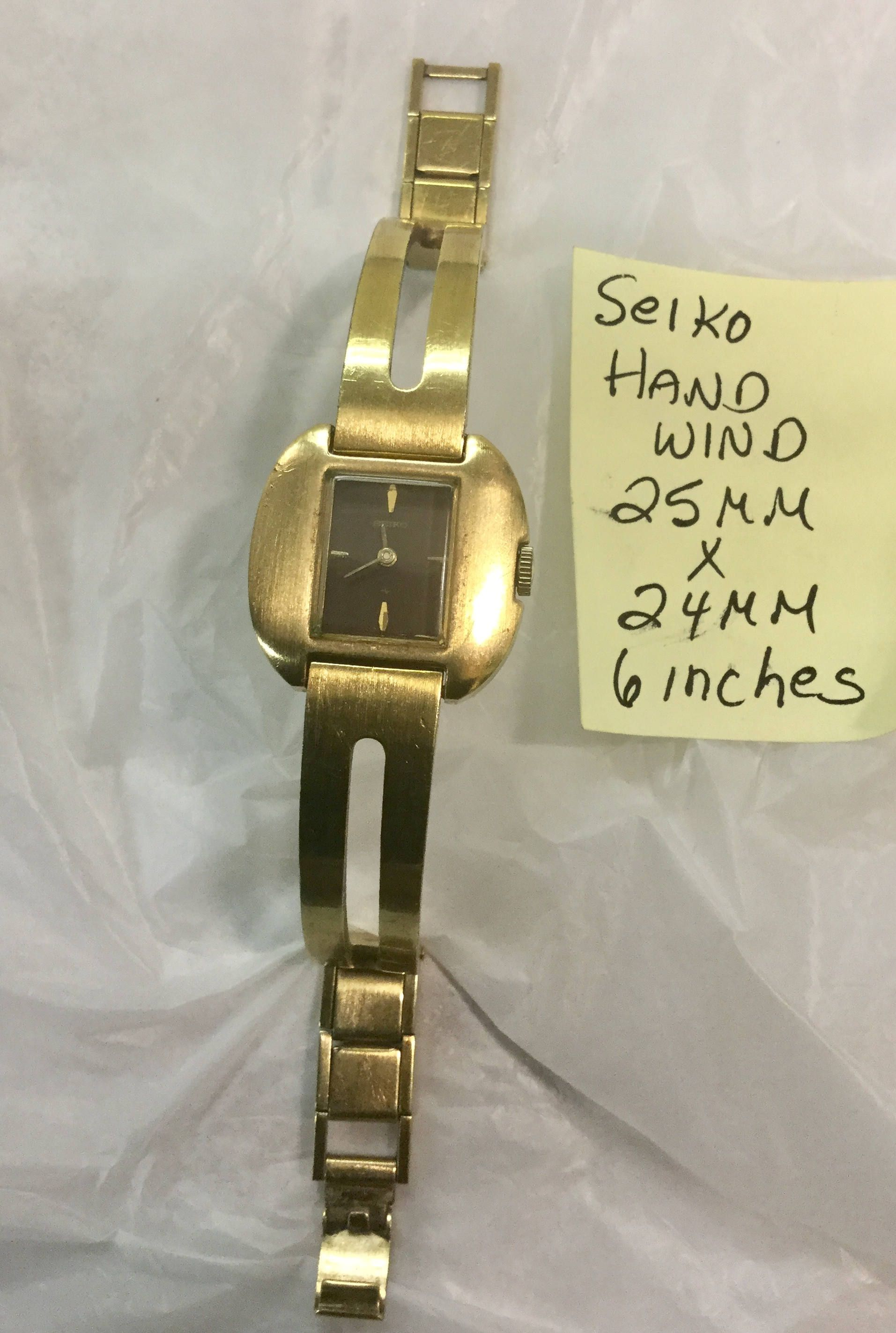 Excited To Share The Latest Addition To My Etsy Shop 1960s Ladys Hand Wind Seiko Gold Plate Wristwatch 25mm Vintage Watches Women Seiko Gold Vintage Jewelry