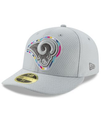 5352a37490eac4 New Era Los Angeles Rams Crucial Catch Low Profile 59FIFTY Fitted Cap -  Gray 7 3/8
