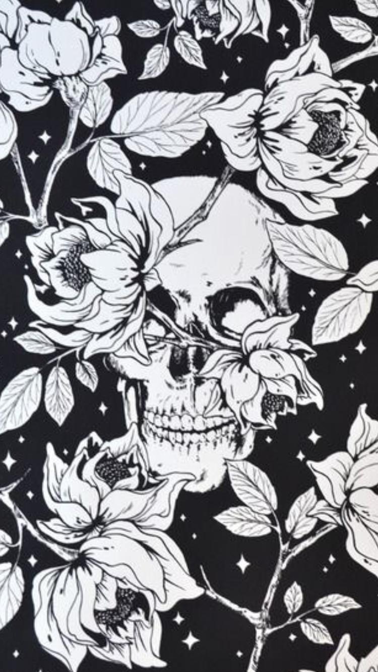 Pin By Dina Hamlett On Skulls Skull Wallpaper Skull Art Emo