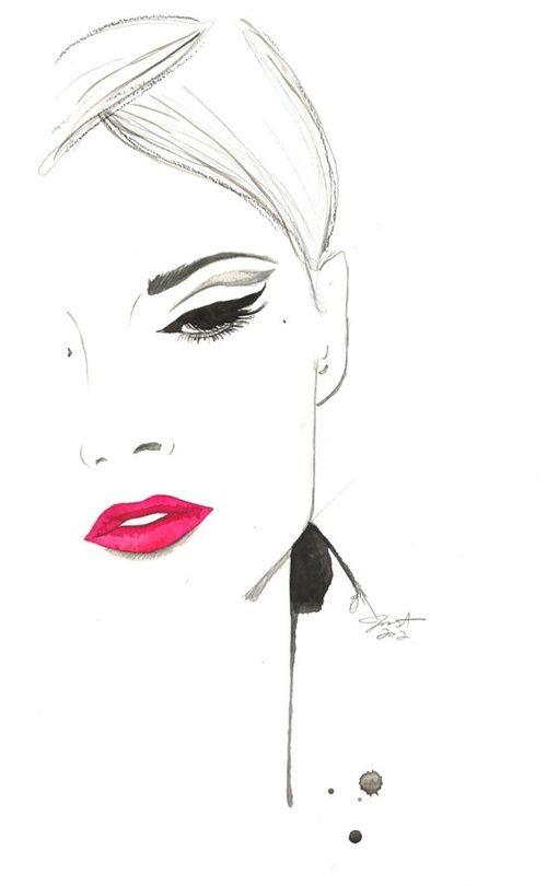 1-Art for Fashion Illustration / Jessica Durrant #illustration