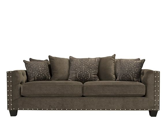 Best Cindy Crawford Calista Microfiber Sofa Sofas Raymour 400 x 300