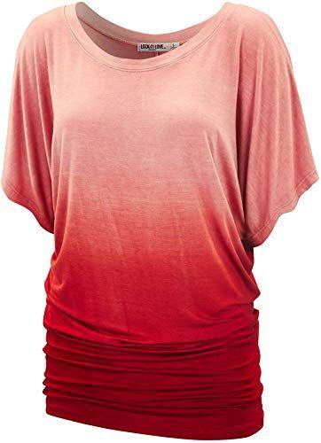 New LL Womens Short Sleeve Oversized Ombre Tie-Dye Tee ...