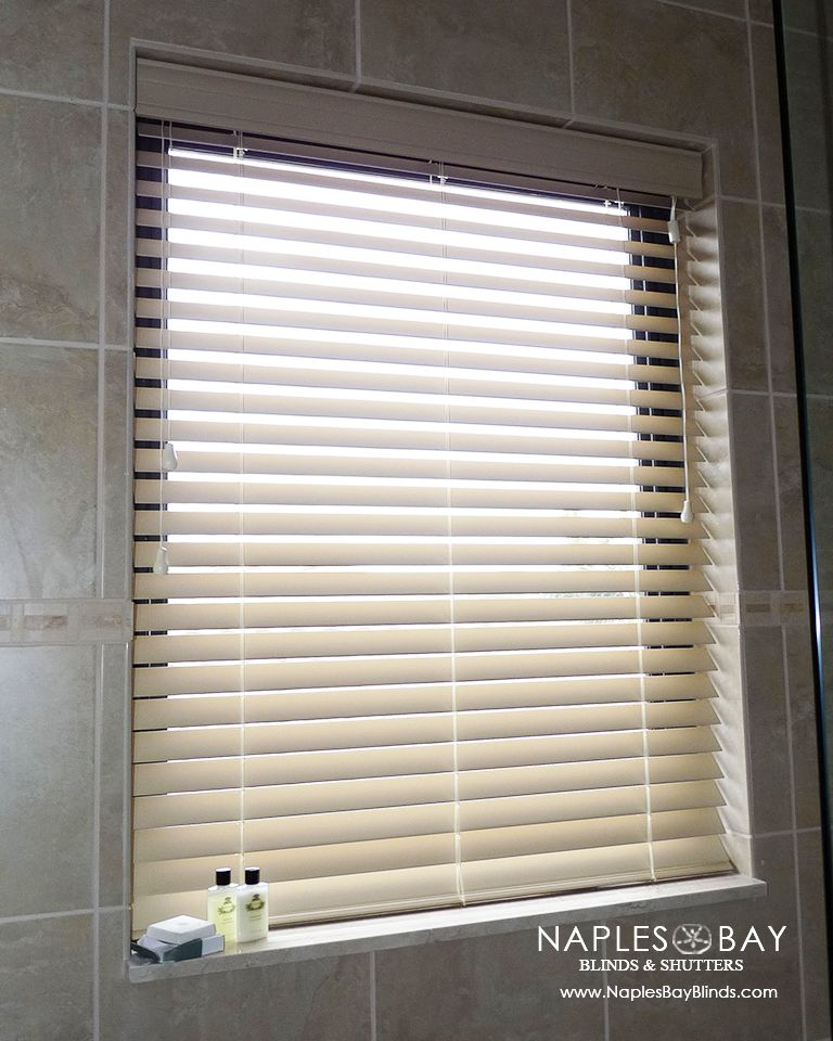 What To Do In Showers Baths Faux Wood Blinds Are The Perfect
