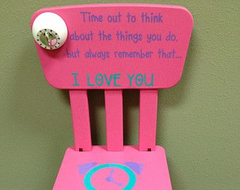 items similar to personalized time out chair with timer on etsy crafts time out chair. Black Bedroom Furniture Sets. Home Design Ideas