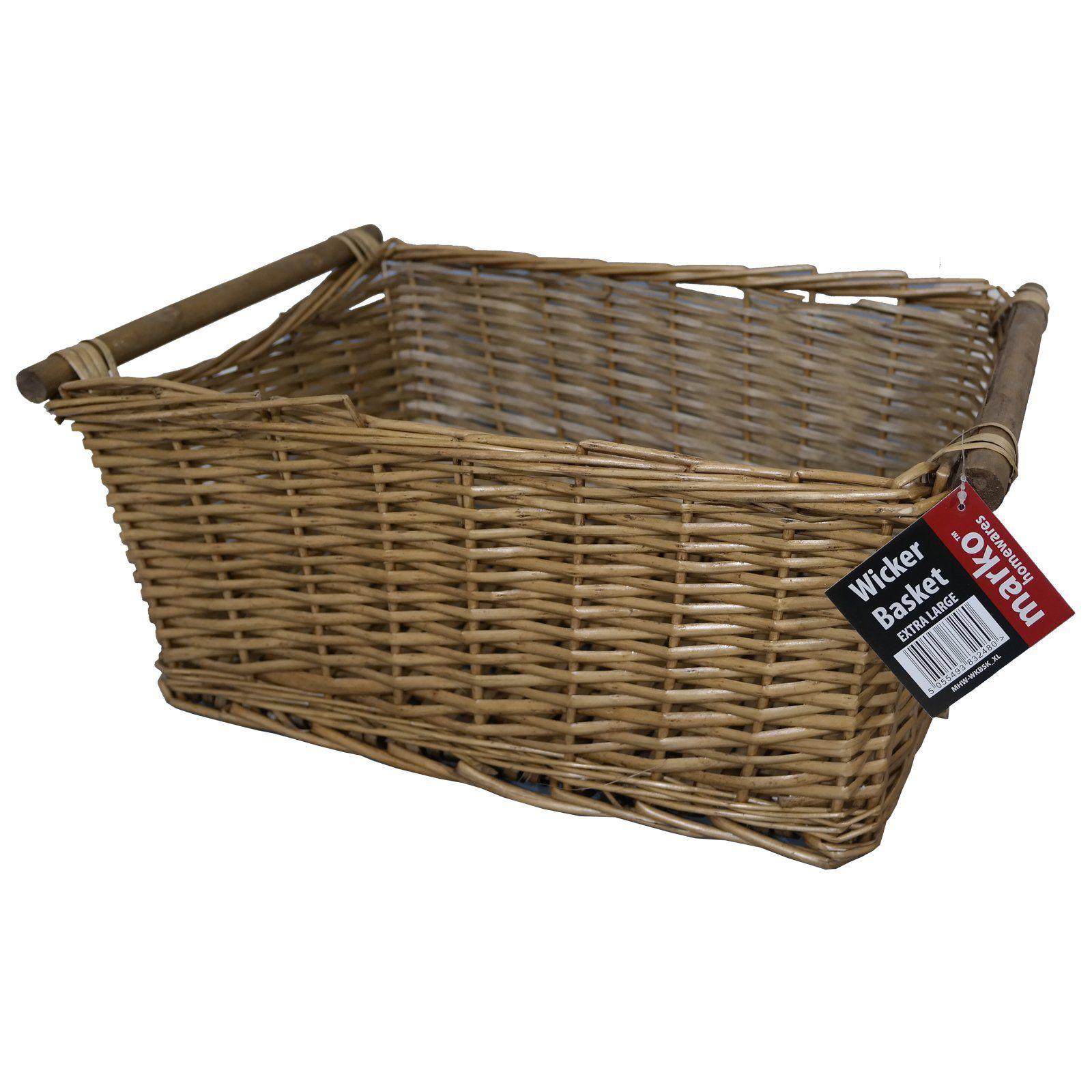 Extra large wicker storage basket household log fireside