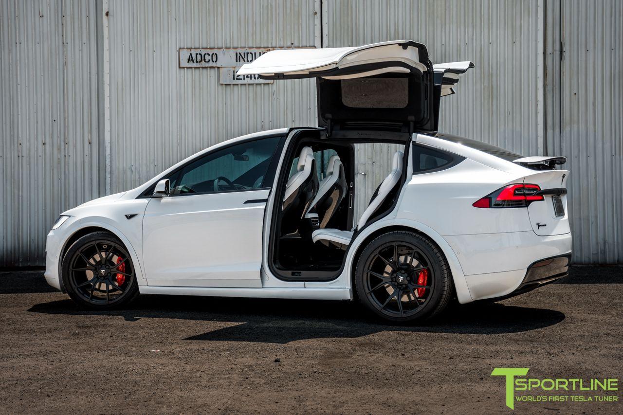 P90d With 22 Forged Mx115 In Satin Matte Black Finish Tesla Model X Tesla Model Tesla
