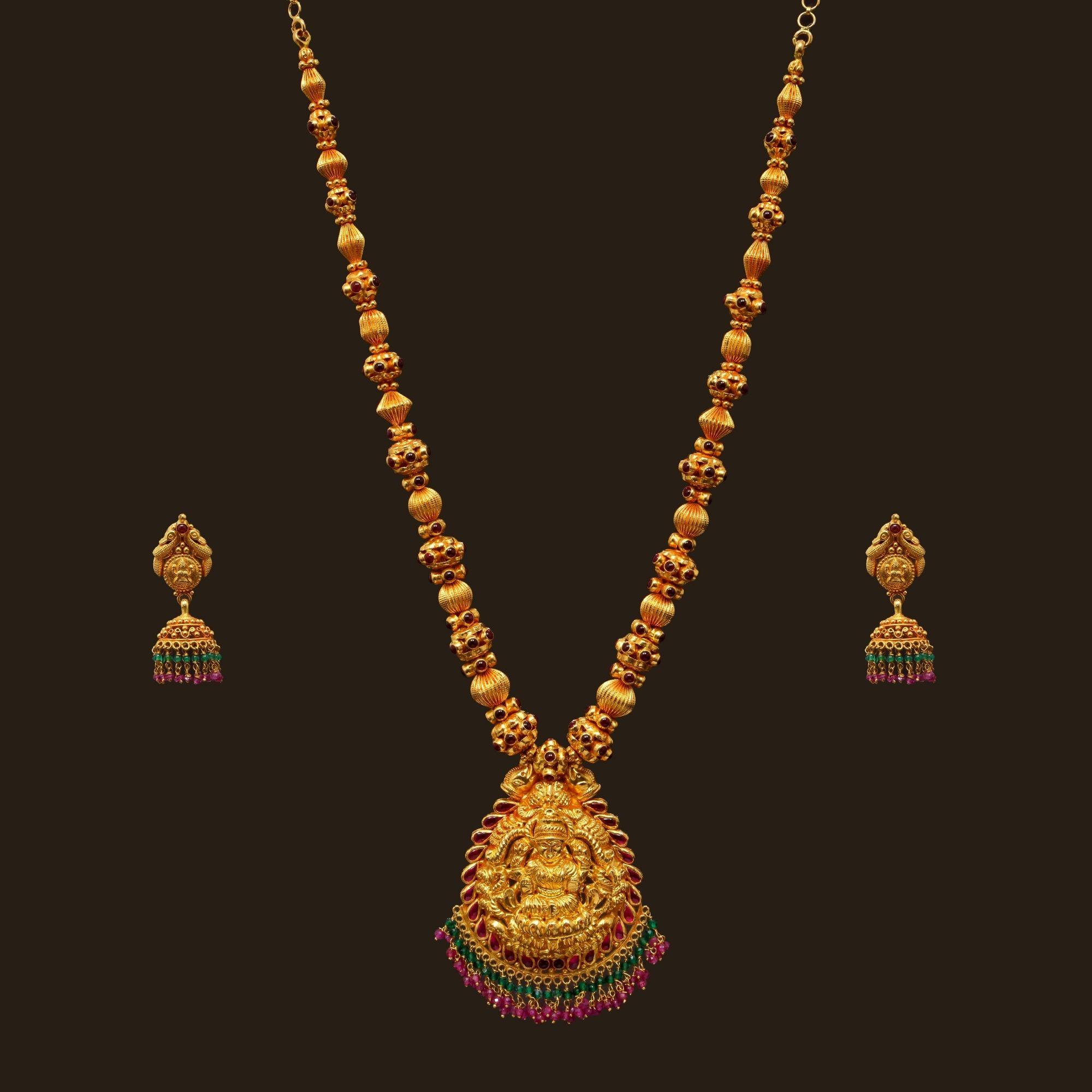 Gheru Polish Necklace Set Vbj Ow Gn 6 Vummidi Bangaru