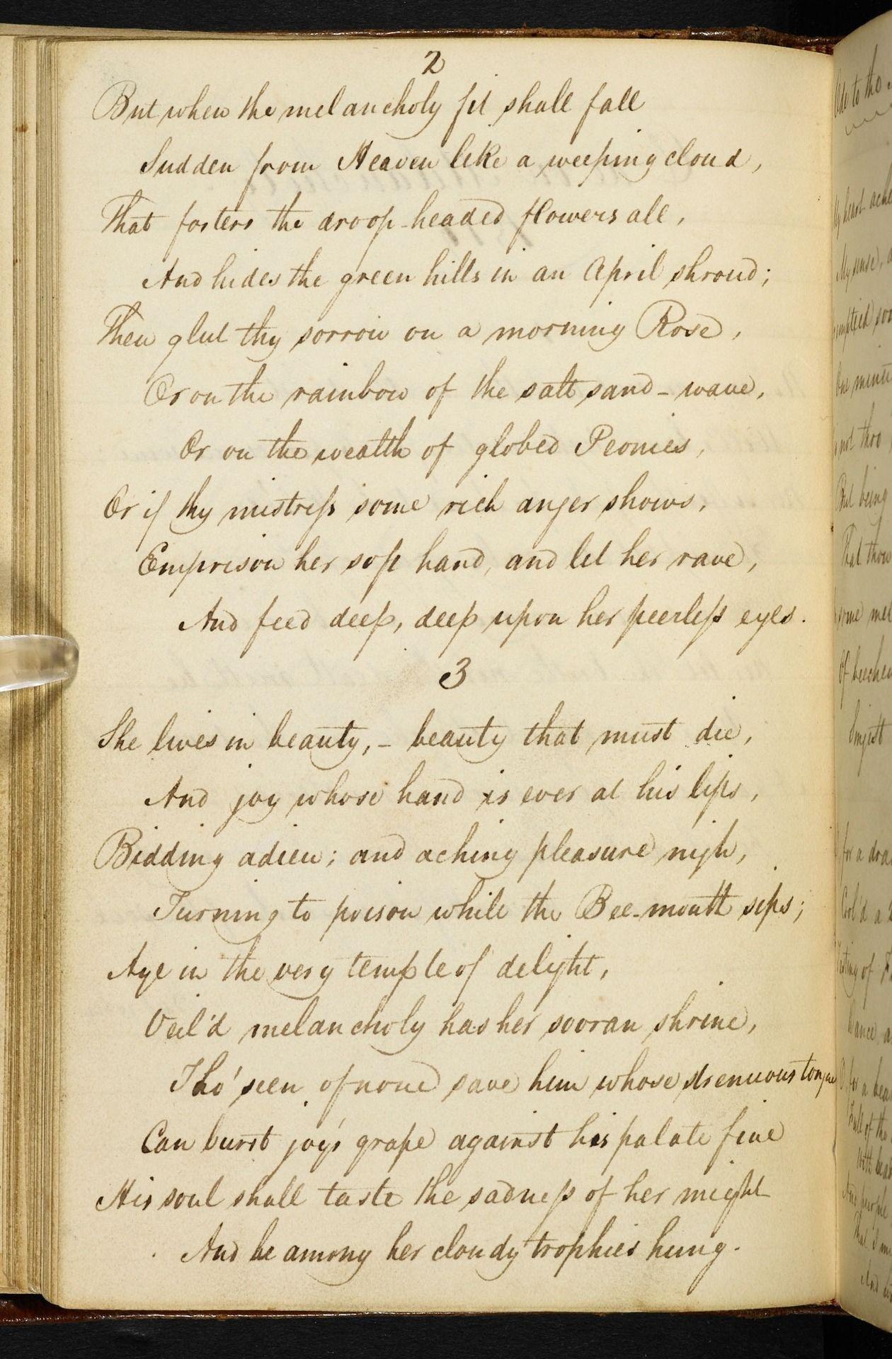 By John Keat Ode On Melancholy Ii Via Venu In Fur The Wonder Nix Line Explanation Of Poem To Autumn Keats