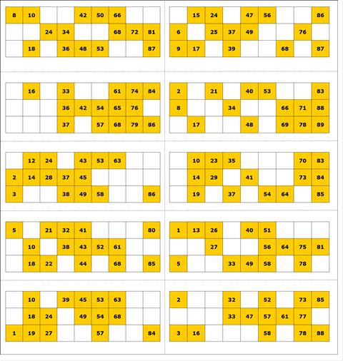 Free Printable Bingo Card 1 90 Ball Bingo Cards Printable