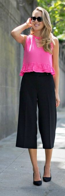 Pink And Black Summer Style