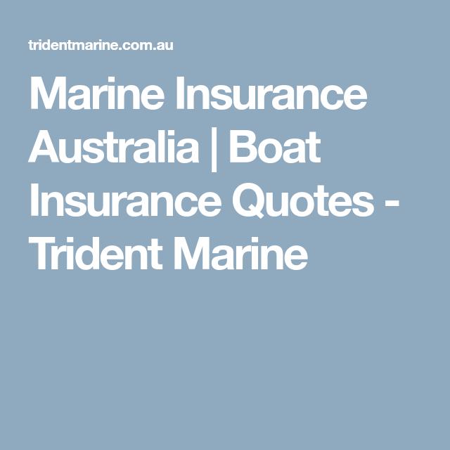 Boat Insurance Quote Amusing Marine Insurance Australia  Boat Insurance Quotes  Trident Marine . Design Decoration