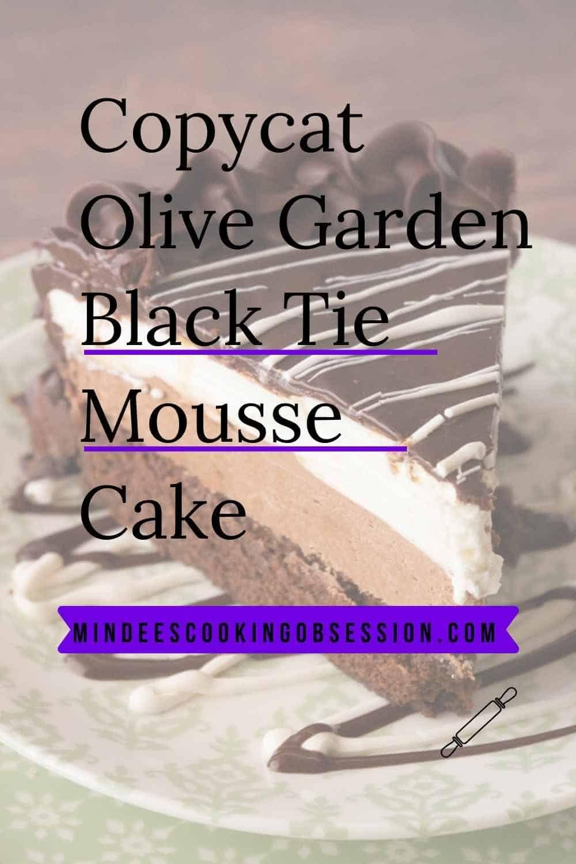 Black tie mousse cake receta reposteria