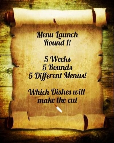 Folks seriously exciting news of a Friday!!! *** We want you to help us build our Menu *** From today at 4.00pm we will be serving the first selection of menu taster dishes. We want you to vote for your favorites over the next few weeks. Your feedback is so important to us so please come along amp; find out more!!