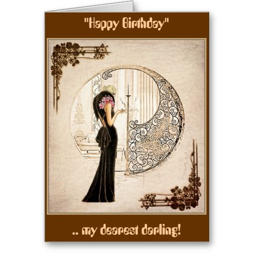 """Vintage Fashionista_Velvet Gown_1933 Birthday Card - """"Tis fashionable my dear to remember the day but forget the year!"""". #vintage"""