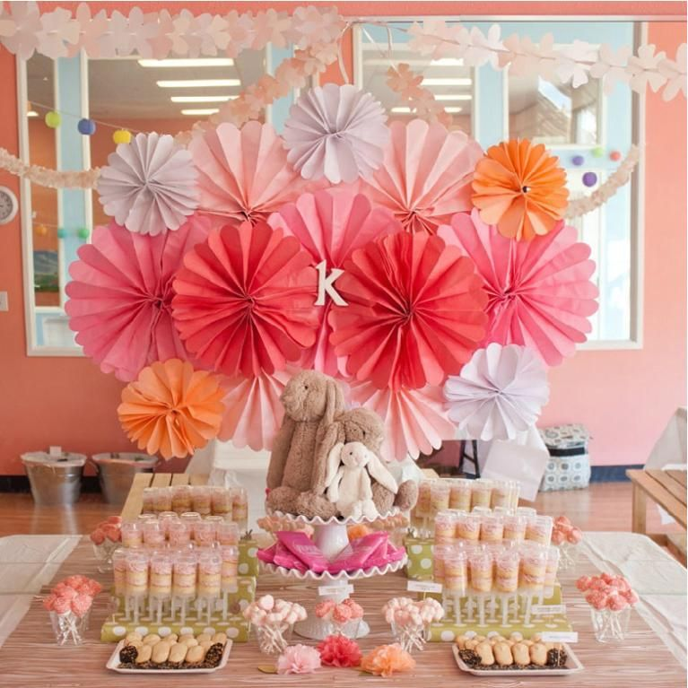 Beautiful cheap house birthday party decoration paper for How to decorate for a bridal shower at home