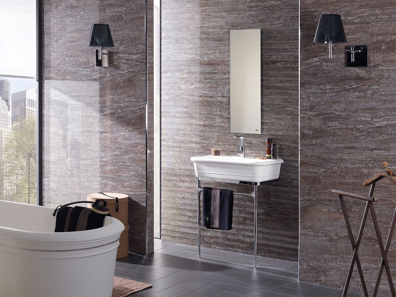 Revestimiento Cerámico Port Black  X  Cm Mosaico Port Black - Porcelanosa bathroom accessories