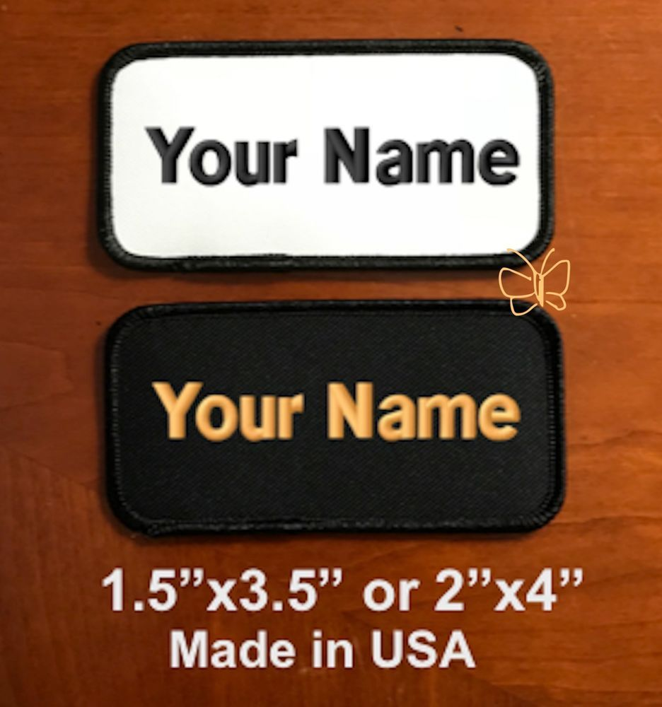 d4c8bddaf7a6 Custom Embroidered Patch Personalized Name Tag Motorcycle Biker ...
