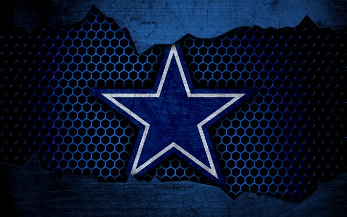 Download wallpapers Dallas Cowboys, 4k, logo, NFL