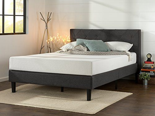 Zinus Upholstered Diamond Stitched Platform Bed with Wood... https ...