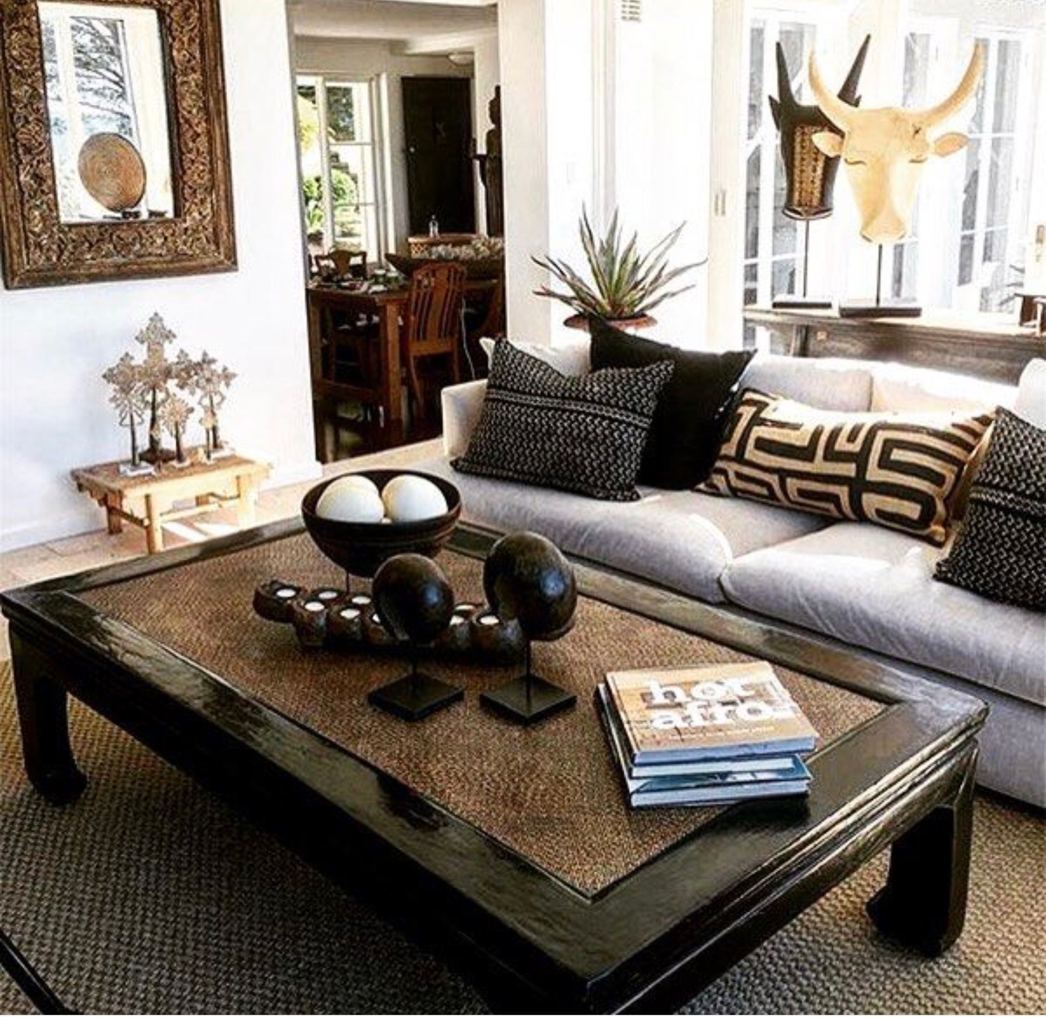African Style Home  African decor living room, African home decor