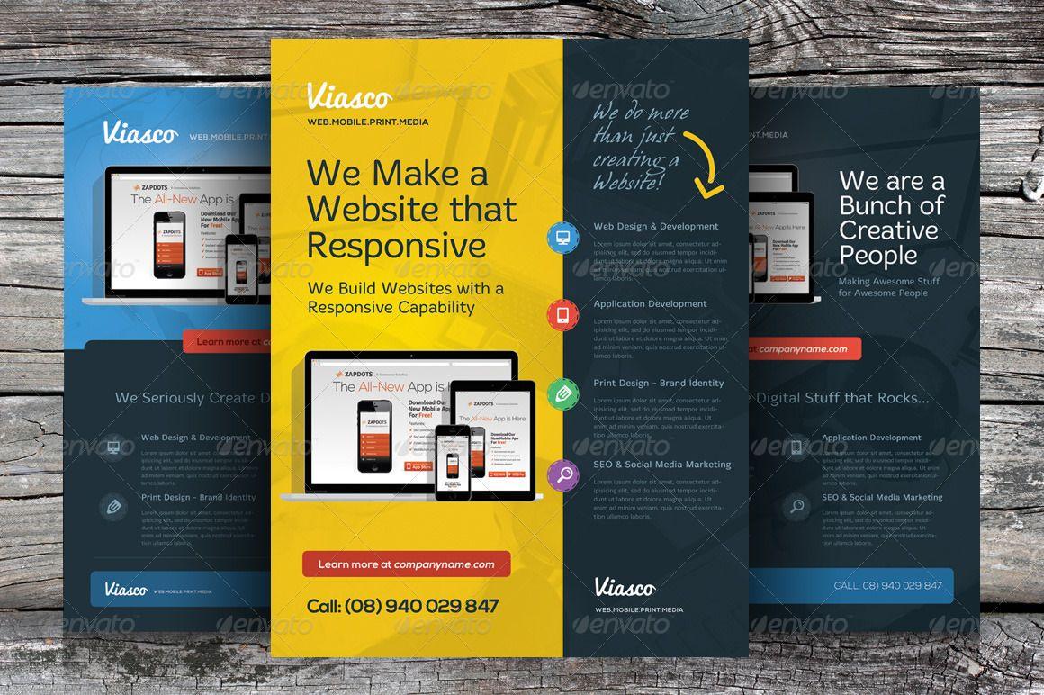 alternative creative design agency flyers